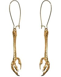 Tracy Hills Jewellery - Gold Vermeil Bird Claw Earrings - Large - Lyst