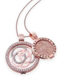 Lucet Mundi - Interchangeable Rose Gold And Crystal Coin Set - Lyst