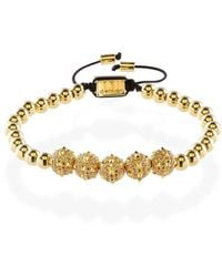 MARCOS DE ANDRADE - Morning Star Spike Bracelet With 18kt Gold - Lyst