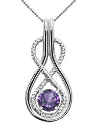 QP Jewellers - Alexandrite Infinity Pendant Necklace 9kt White Gold - Lyst