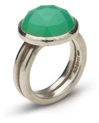 Naomi Tracz Jewellery - Rose Cut Chrysoprase Ring - Lyst