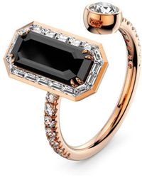 MARCELLO RICCIO - 18kt Gold, Diamond & Black Diamond Ring - Lyst