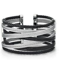 Alor - Noir Bangle, Black And Grey Cuff - Lyst