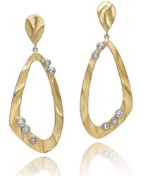 K.Mita - Open Pebble Drop Earrings - Lyst