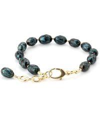 Elisa Ilana Jewelry - Yellow Gold & Black Pearl Lollies Bracelet | - Lyst