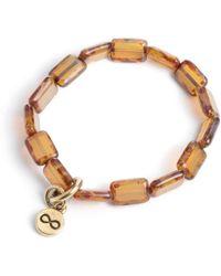 Eva Michele - Cafe Latte Infinity Bracelet - Lyst