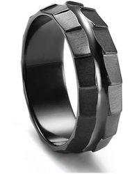 KAVALRI - Rotar Black Zirconium Custom Ring - Lyst