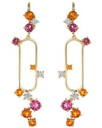 Madstone Design - Pink Tourmaline And Citrine Melting Ice Earrings - Lyst