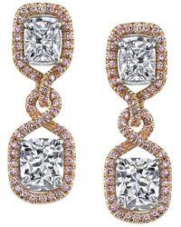 Harry Kotlar | Pretty In Pink Arabesque Kotlar Cushion Drop Earrings | Lyst