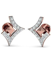 Diamoire Jewels Dazzling Pave Diamond Earrings in 18kt Rose Gold iUuUl7fV