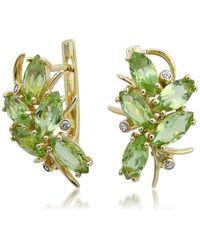 Drukker Designs - Yellow Gold Peridot Earrings - Lyst