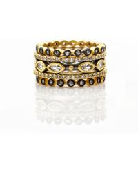 Freida Rothman - Triple Marquise Bead Set Of 5 Rings - Lyst