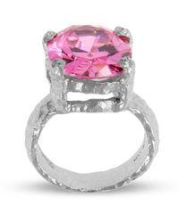 Paul Magen - Sterling Silver Pink Alveus Ring | - Lyst