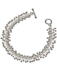 Yen Jewellery - Molecule Simple Silver Bracelet - Lyst