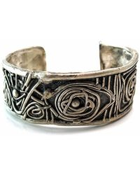 Private Opening - Midsummer Night's Dream Oxidized Sterling Silver Cuff - Lyst