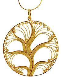 Agora Jewellery - Filigree Gold Tree Of Life Pendant Necklace - Lyst