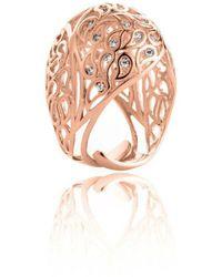 Sonal Bhaskaran - Shikhara Rose Gold Dome Ring Clear Cz - Lyst