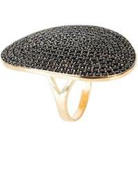 LÁTELITA London - St Tropez Ring Gold Black Zircon - Lyst