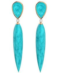 MARCELLO RICCIO - Rose Gold, Turquoise & Diamond Earrings - Lyst