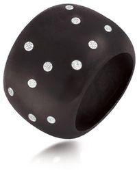 Hazel NY - Eclipse Orb Ring Black Rhodium Plated - Lyst