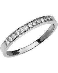 QP Jewellers - Diamond Half Eternity Wedding Ring In 9kt White Gold - Lyst