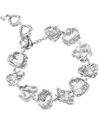 Joseph Lamsin Jewellery - Cornish Seawater Shaped Rippled Sterling Silver Handmade Chunky Bracelet - Lyst