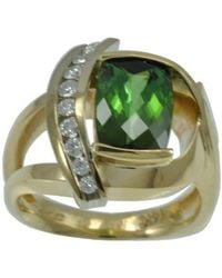 Alex Gulko Custom Jewelry - Green Tourmaline Yellow Gold Ring - Lyst