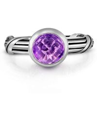 Peter Thomas Roth Fine Jewelry - Fantasies Amethyst Sterling Solitaire Ring - Lyst