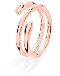Lucy Quartermaine Coil Drop Ring Rose Gold Plated - UK T - US 9 5/8 - EU 61 1/2 RjFjEou