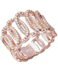 Lustre of London - Rose Squiggle Ring - Lyst