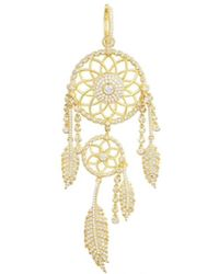 Opes Robur - Gold Vermeil Dreamcatcher Single Earrings - Lyst