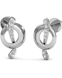 Diamoire Jewels Brilliant Cut Pave Diamond Earrings in 10kt Yellow Gold nB3yeBznU