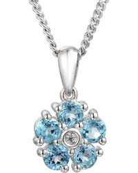 Amore Argento - Rhodium Plated Sterling Silver Daisy Necklace - Lyst