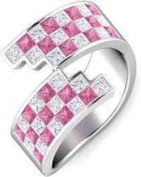 Gunjan Bhandari - Pink Checkered Ring - Lyst