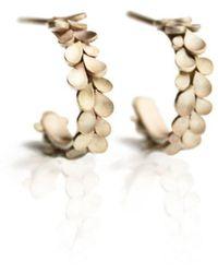 Dagmar Korecki - Dahlia 9kt Yellow Gold Hoop Earrings - Lyst