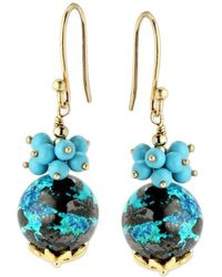 Elisa Ilana Jewelry - Chrysocolla & Turquoise Earrings - Lyst