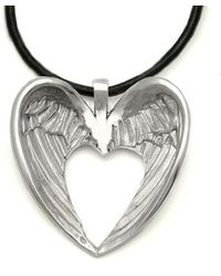 Annika Rutlin - Halo Winged Heart Leather Necklace - Lyst