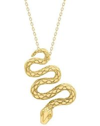 London Road Jewellery Kew Serpent Sterling Silver Pendant ygJkh6k