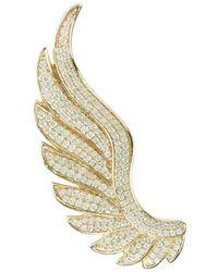LÁTELITA London - Yellow Gold Plated Gabriel Angel Wing Ear Climber - Left - Lyst