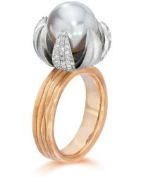LJD Designs - Gold Lotus Blossom Ring - Lyst