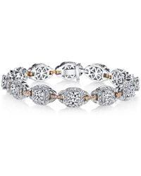 Harry Kotlar - Kotlar Cushions With White & Pink Diamonds Pave Link Bracelet - Lyst