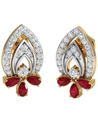Diamoire Jewels Hand-carved 10kt Yellow Gold and Premium Quality Diamond Earrings xCBnr0oUa