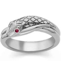 London Road Jewellery - Kew Serpent Sterling Silver Ruby Ring - Lyst