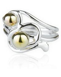 Lavan - Handmade 9kt Gold And Silver Wire Ring - Lyst