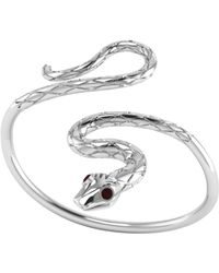 London Road Jewellery | Kew Serpent Sterling Silver Ruby Bangle | Lyst