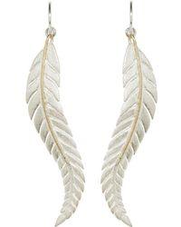 Andrew O Dell Jewellery - Sterling Silver Fern Drop Earrings - Lyst