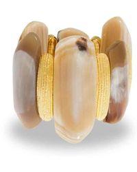 Hissia - Ife Horn Gold Bracelet - Lyst