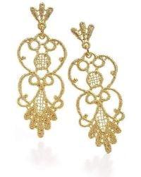 Brigitte Adolph Jewellery Design - Carmen Yellow Gold Earrings - Lyst