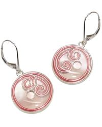 AVA Goldworks - Peony Mother Of Pearl Earrings - Lyst