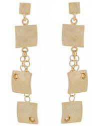 Mishanto London - Veneto Drop Earrings With Citrine - Lyst
